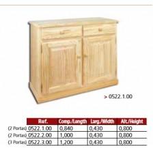 Aparador 2 portas de madeira revista mais 2 gavetas.