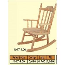 Cadeira baloiço grande torneada