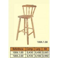 Cadeira bar com costa pata curta