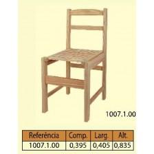 Cadeira travessa natural com assento de rips