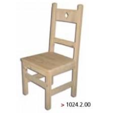 Cadeira rústica em madeira maciça.