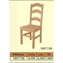 Cadeira tampo maciço 3 tab. curva