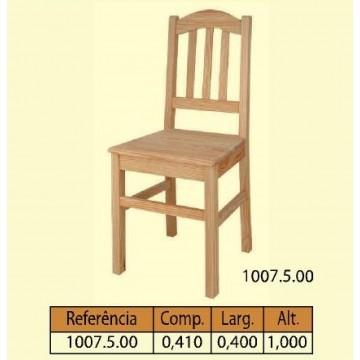 Cadeira tampo maciço 3 tab. verticais