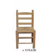 Cadeira média  torneada modelo espanhol com assento de ráfia