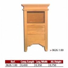 Mesa de cabeceira 2 gavetas 4  patas em madeira maciça.
