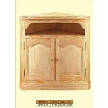 Movel tv de esquina em madeira de piño