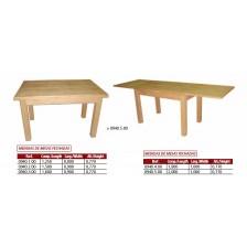 Mesa extensível em madeira de pinho