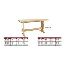 Mesa folha 180 cm em madeira de pinho.