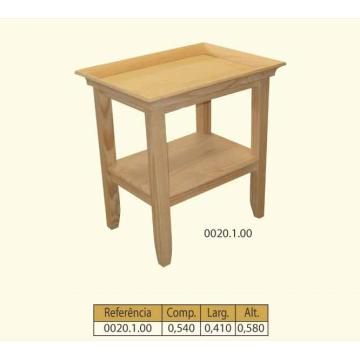 Mesa tabuleiro auxiliar com prateleira