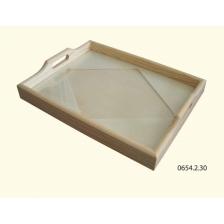 Tabuleiro losango c/ vidro