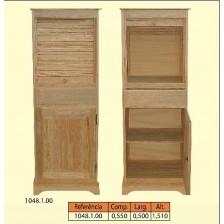Móvel 1 porta de persiana 1 porta de madeira 1 gaveta