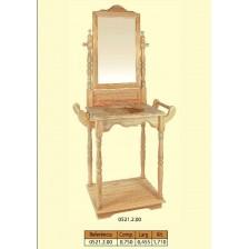 Palanganeiro com espelho grande em pinho