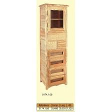 Vitrina 1 porta de vidro ( 5 gav. gr.- 2 gav peq. )