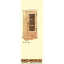 Vitrina parede 1 porta para vidro 1 gaveta.